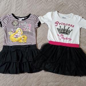 Lot 2 Princess Toddler Dresses